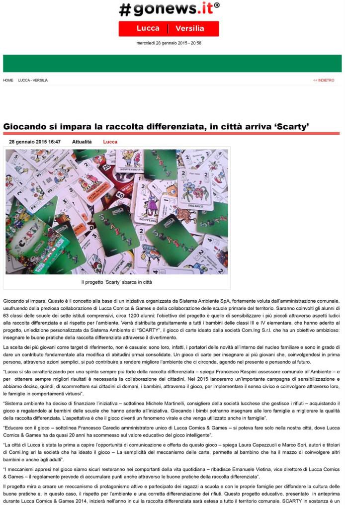 [ Lucca ] Giocando si impara la raccolta differenziata, in cittˆ